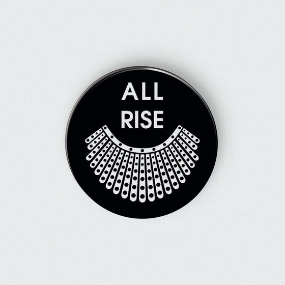 All Rise - RBG Collar Enamel Pin