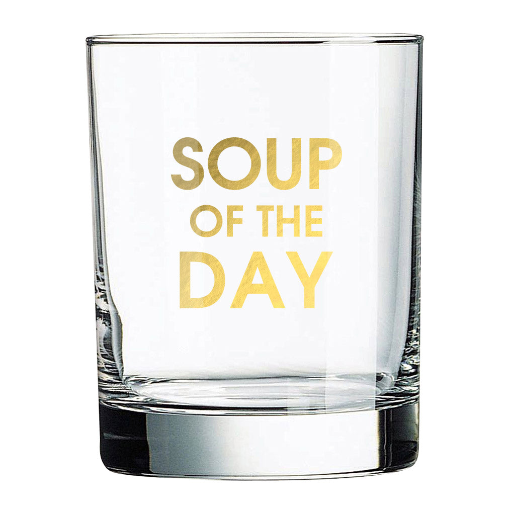 Soup of the Day Rocks Glass (Slight Imperfections)