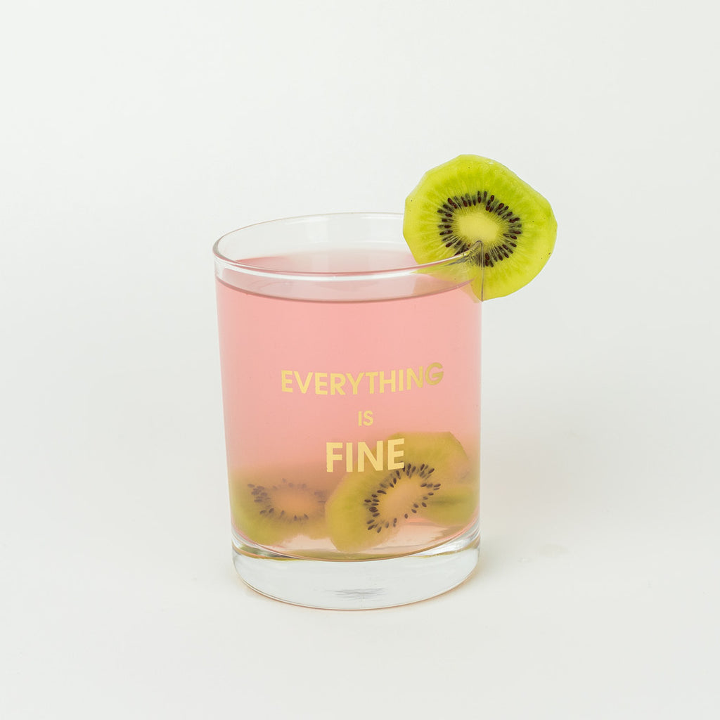 Everything is Fine Cocktail Glass by Chez Gagné