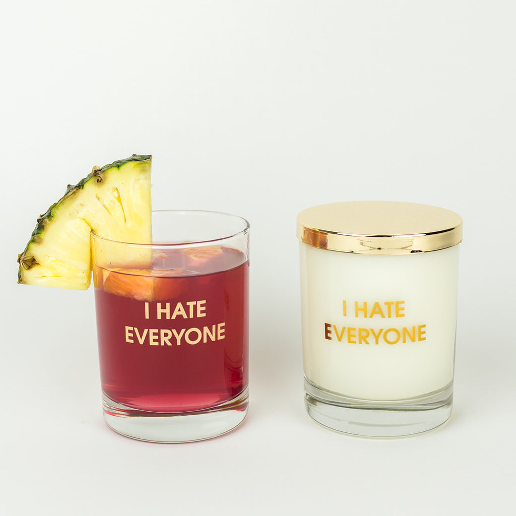 I Hate Everyone Candle to Cocktail Glass by Chez Gagné