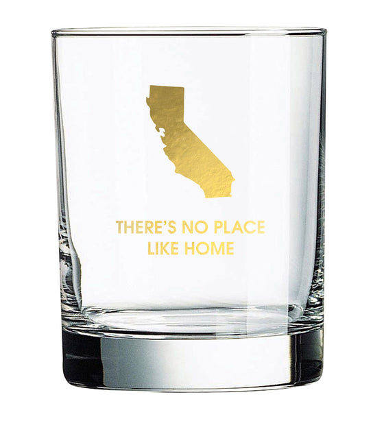 No Place Like Home - California Rocks Glass