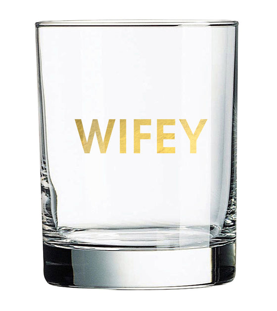 Wifey Rocks Glass (Slightly Imperfect)