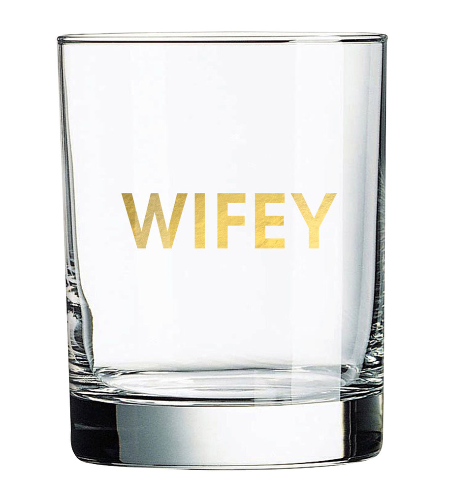 Wifey Rocks Glass