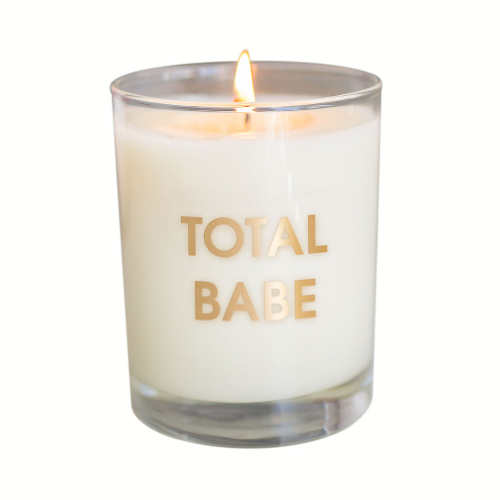 Total Babe Candle - Gold Foil Rocks Glass (Slightly Imperfect)