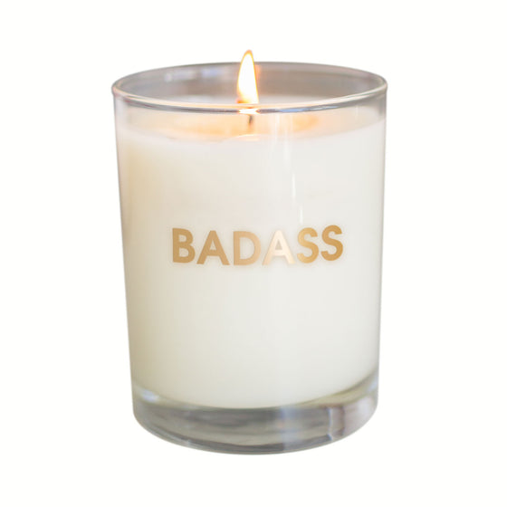 Badass Candle - Gold Foil Rocks Glass (Slightly Imperfect)