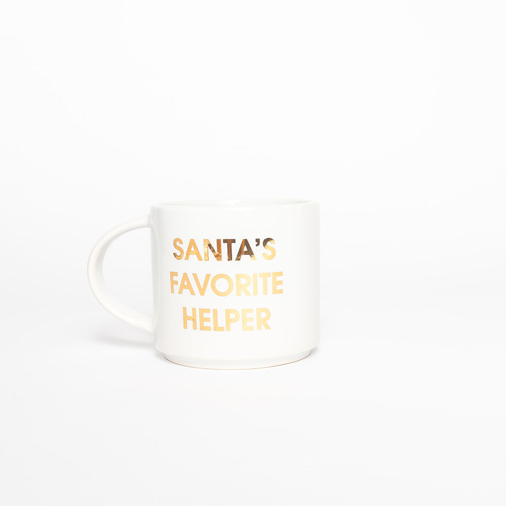 Santa's Favorite Helper Holiday Coffee Mug by Chez Gagne
