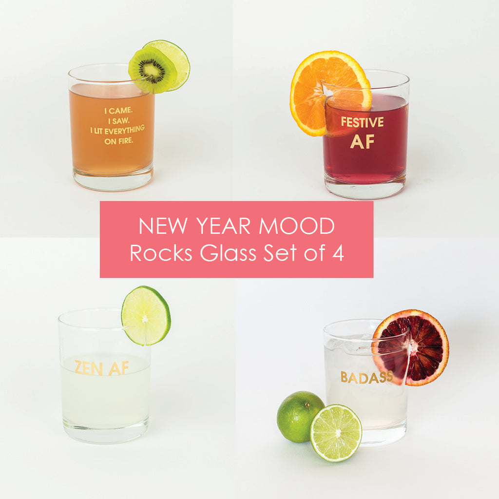 Set of 4 New Year Mood