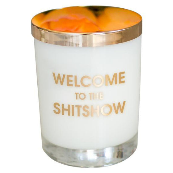 Chez Gagne Welcome to the Shitshow Candle to Cocktail Glass