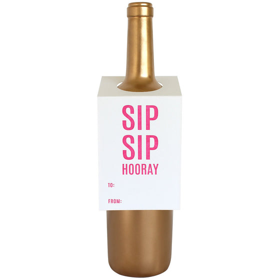 Sip Sip Hooray Wine & Spirit Tag