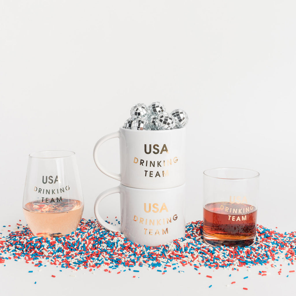 USA Drinking Team Drinkware and Barware by Chez Gagne