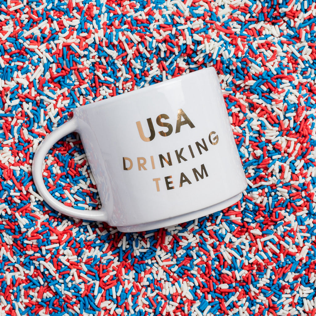 USA Drinking Team Coffee Mug by Chez Gagne