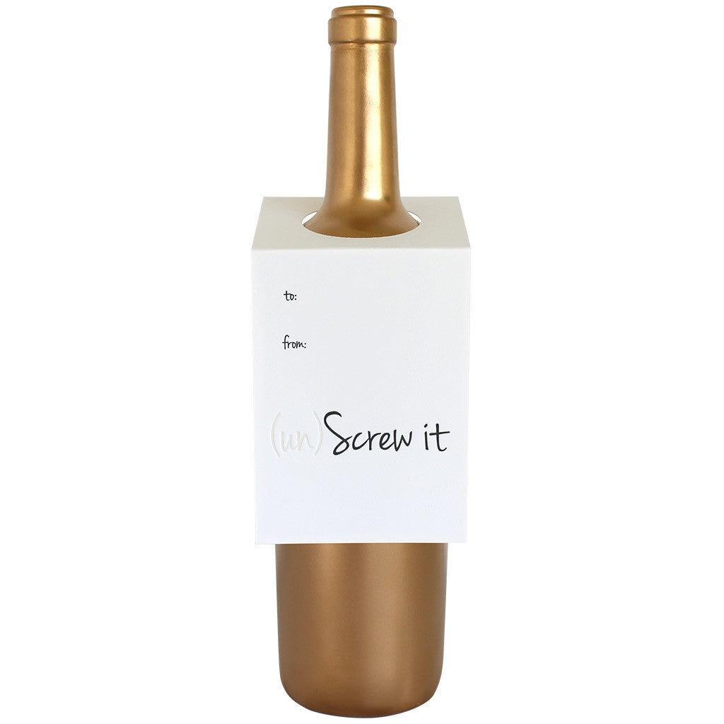 Un-Screw It Wine & Spirit Tag