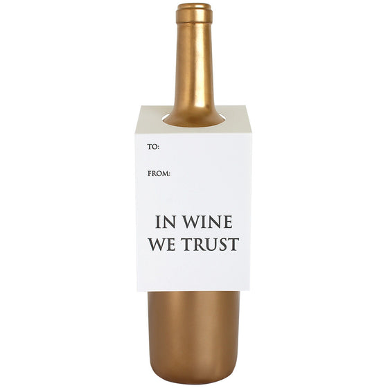 In Wine We Trust Wine & Spirit Tag