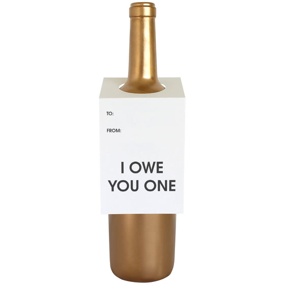 I Owe You One Wine & Spirit Tag