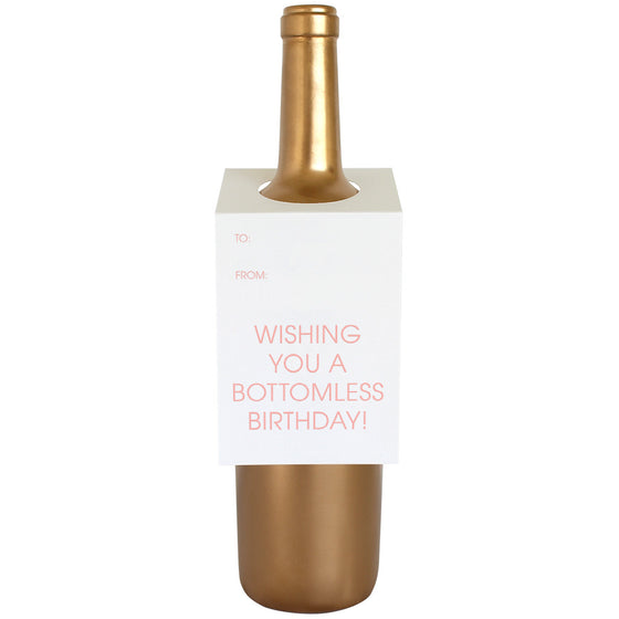 Wishing You a Bottomless Birthday Wine & Spirit Tag