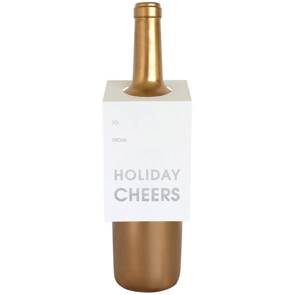 Holiday Cheers Wine & Spirit Tag