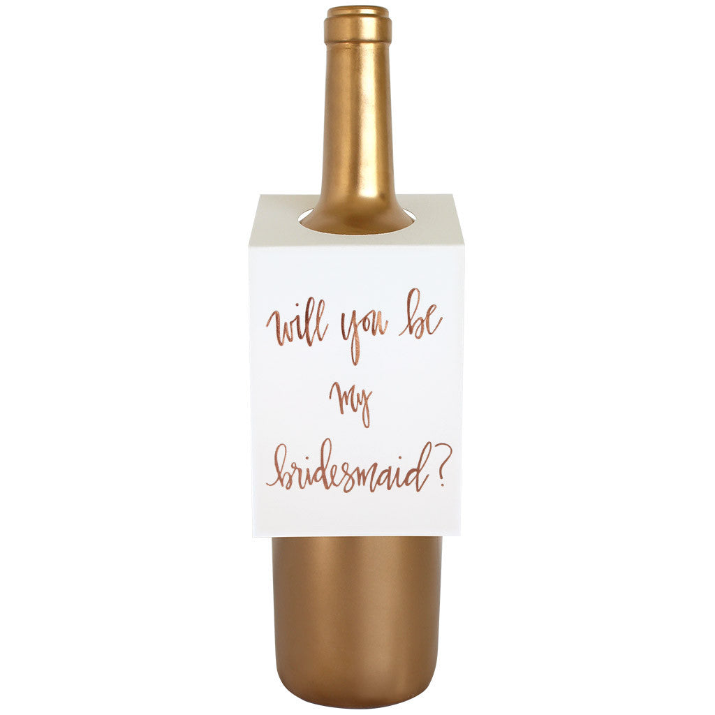 Will You Be My Bridesmaid Wine & Spirit Tag