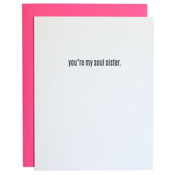 You're My Soul Sister Letterpress Card
