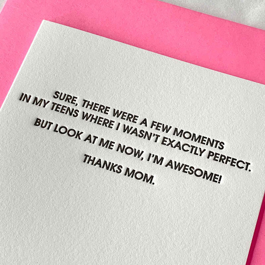 I'm Awesome - Mom Letterpress Card