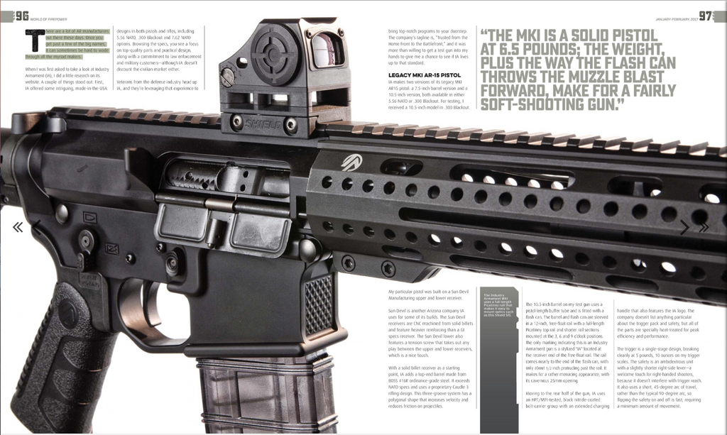 World of Firepower - Industry Armament Legacy MK1 AR-15 Pistol .300 Blackout