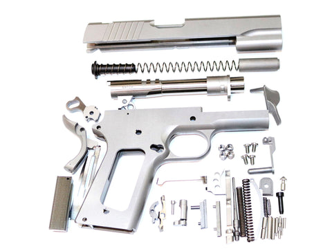 "1911 80% BUILD KIT 5"" GI .45 ACP FORGED 416R W/SMOOTH GRIP NOVAK SIGHTS W/MACHINE GRADE BILLET PARTS"