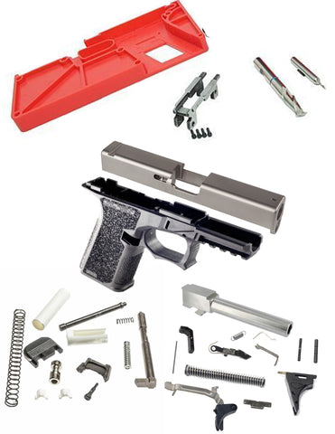 GLOCK 19 Complete Builders Kit with Polymer80 PF940Cv Frame - FDE