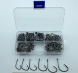 120pcs Circle Hooks 1/0-5/0 +  Clear Tackle Box