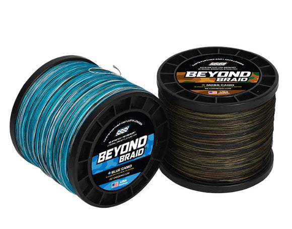 Beyond Braid Blue & Moss Camo 2000 Yard Spools