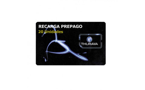 THURAYA - TH-VOUCHER_20 - RECARGA 20 UDS SIN CADUCIDAD