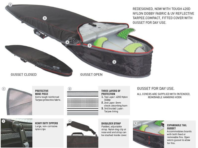 Cover - O&E Compact Day Longboard Cover