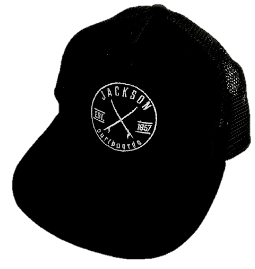 Combo Pack-Jackson Surf Shop Logo in white with Black Cap