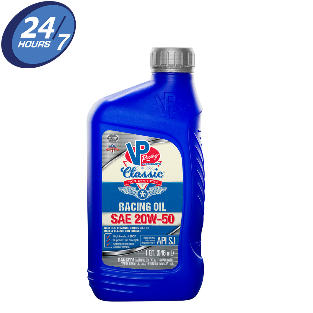 VP Classic Non-Synthetic Racing Oil SAE 20W-50