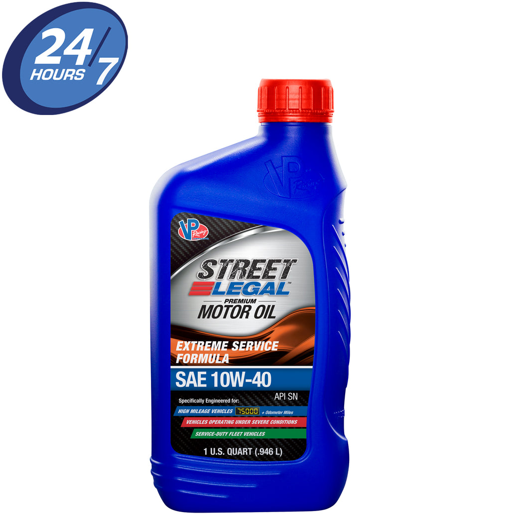 VP Street Legal™ Extreme Service Motor Oil SAE 10W-40