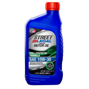 VP Street Legal™ Full Synthetic Formula Motor Oil SAE 10W-30