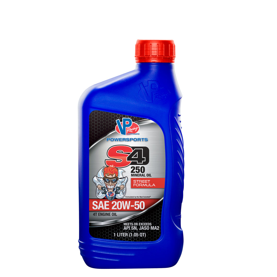 VP® S4 250 Four Stroke Engine Oil – Mineral Street Formula 20W-50