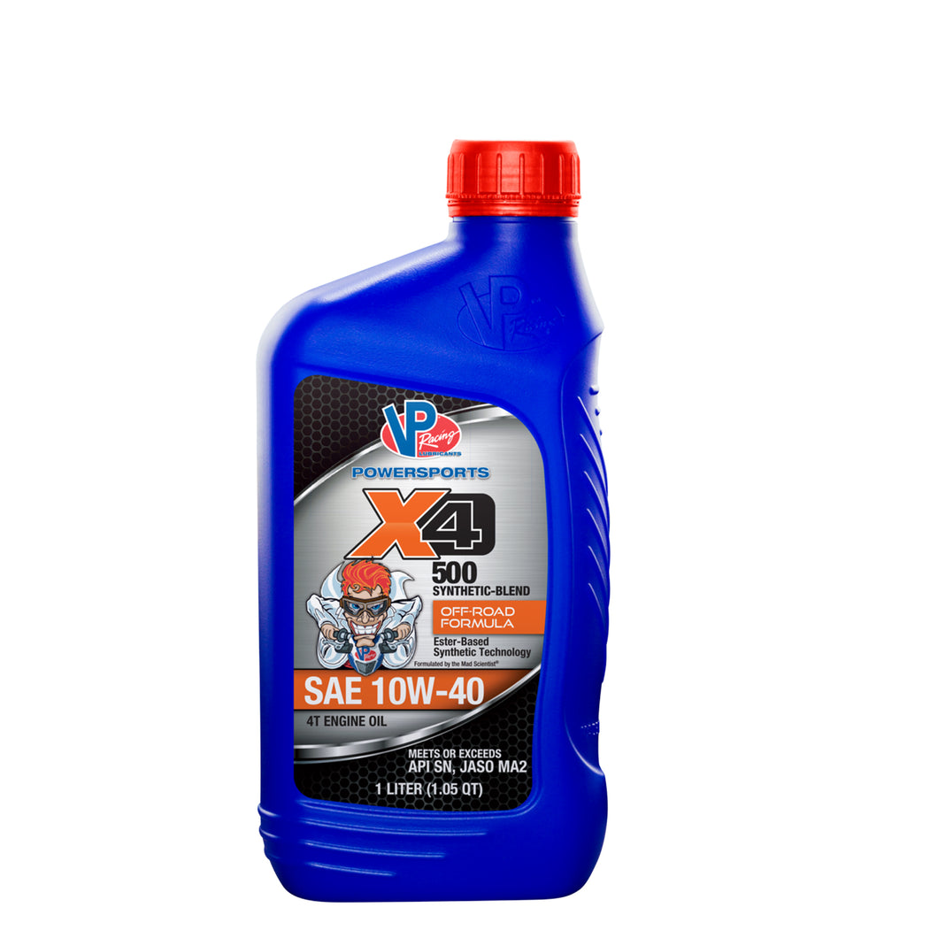 VP® X4 500 Four Stroke Engine Oil – Synthetic-Blend Off-Road Formula 10W-40