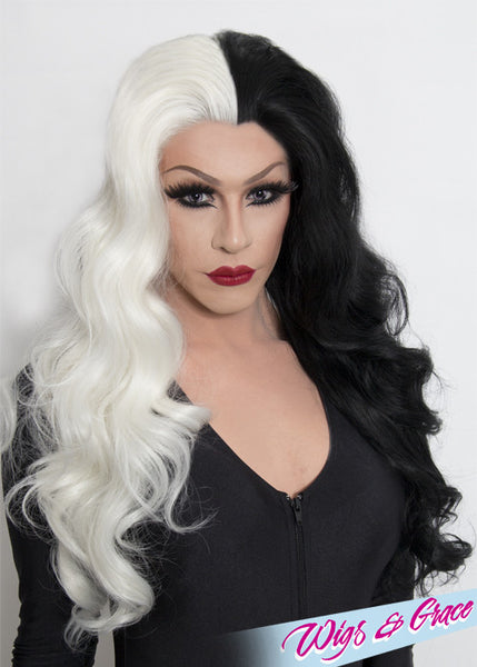 VILLAINESS APHRODITE - Wigs and Grace , drag queen wig, drag queen, lace front wig, high quality wig, rupauls drag race wig, rpdr wig, kim chi wig