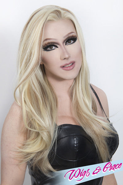LOW LIGHTED BLONDE BETSY - Wigs and Grace , drag queen wig, drag queen, lace front wig, high quality wig, rupauls drag race wig, rpdr wig, kim chi wig