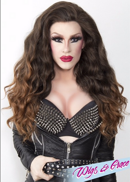 MAHOGANY OMBRE GABRIELLE - Wigs and Grace , drag queen wig, drag queen, lace front wig, high quality wig, rupauls drag race wig, rpdr wig, kim chi wig
