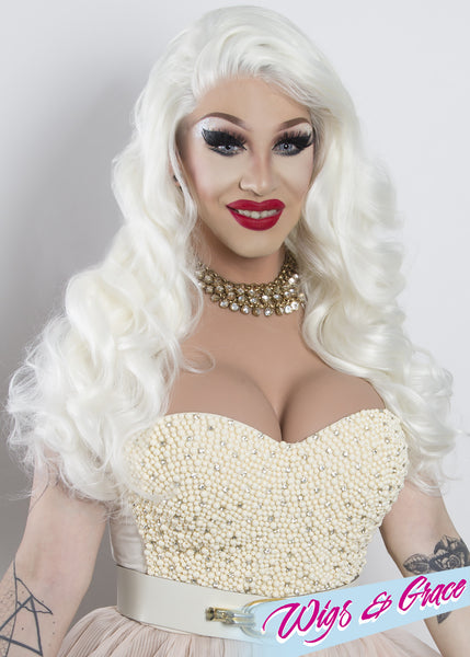 BEYOND PLATINUM APHRODITE - Wigs and Grace , drag queen wig, drag queen, lace front wig, high quality wig, rupauls drag race wig, rpdr wig, kim chi wig