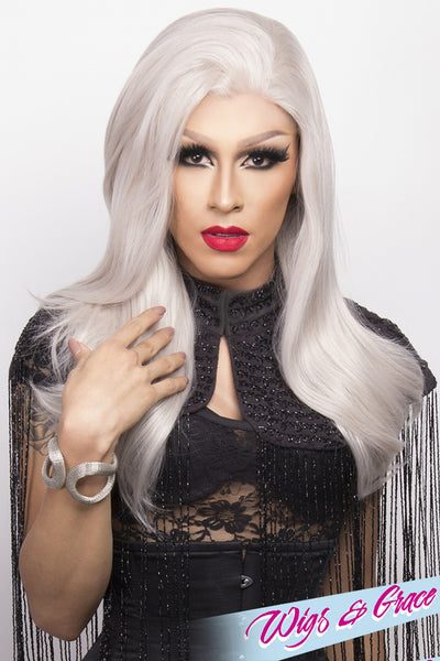 SILVER BETSY - Wigs and Grace , drag queen wig, drag queen, lace front wig, high quality wig, rupauls drag race wig, rpdr wig, kim chi wig