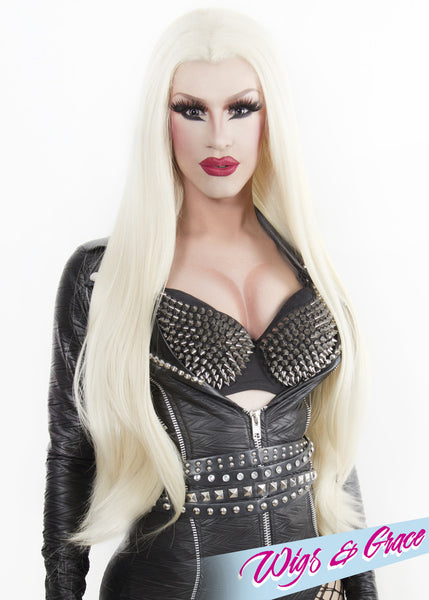 PLATINUM DONATELLA - Wigs and Grace , drag queen wig, drag queen, lace front wig, high quality wig, rupauls drag race wig, rpdr wig, kim chi wig