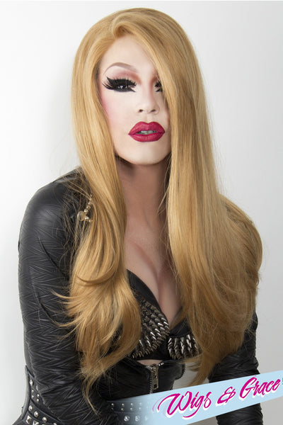 HONEY BLONDE BETSY - Wigs and Grace , drag queen wig, drag queen, lace front wig, high quality wig, rupauls drag race wig, rpdr wig, kim chi wig