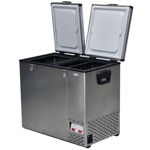 National Luna 110L Stainless Steel 2 Door Fridge