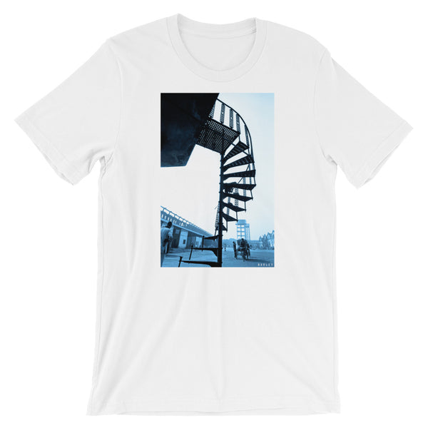 Stairway to Nowhere Unisex Photo T-Shirt by Martin Hurley (Blue) -  - Shopafoo Art Tees