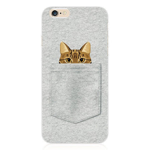 Estuche Gato Bolsillo iPhone 6/6S Plus