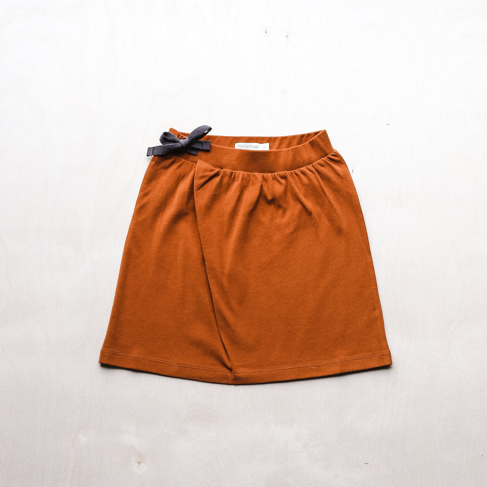 Midi Skirt (Burnt Orange)