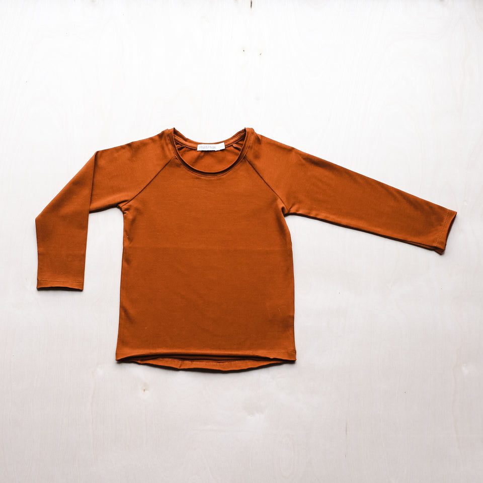 Raglan Tee (Burnt Orange)