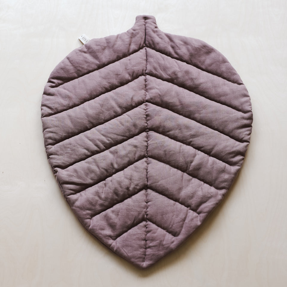 Linen Leaf Mat (Dusty Rose)