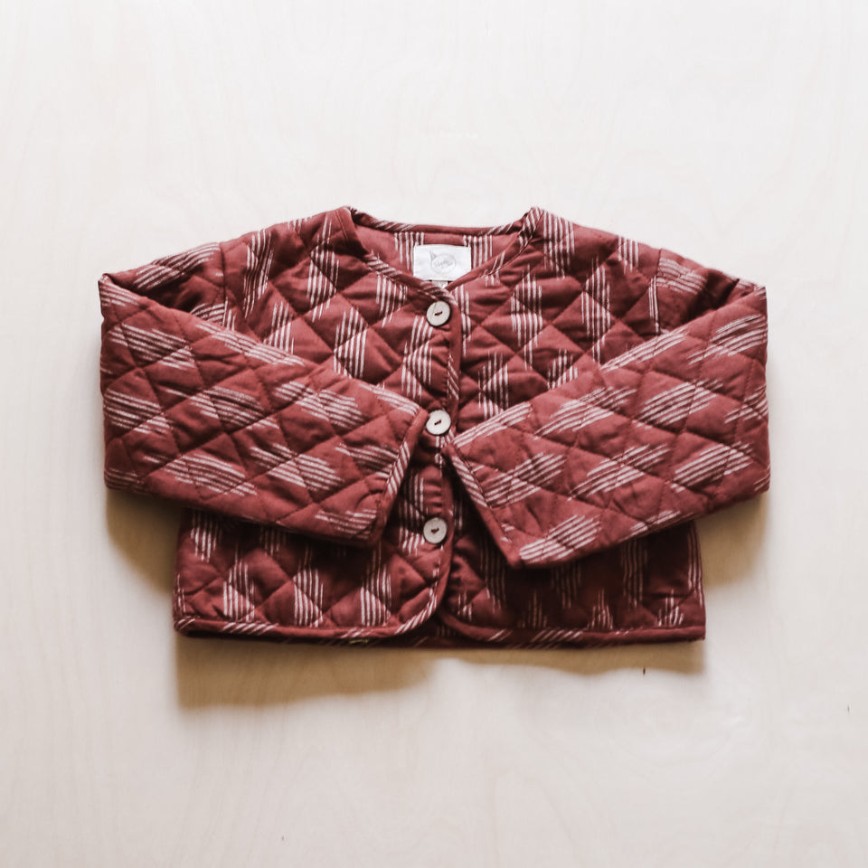 Kismet Quilted Jacket (Terracotta Ikat)